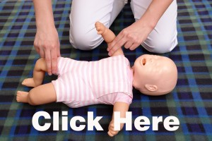 Infant pulse checking demonstration